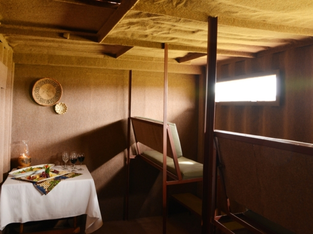 Underground hide safari experience at The Hide in Hwange National Park - Zimbabwe