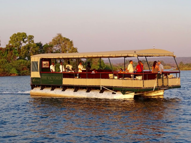 The Victoria premium river safari on the Zambezi River in Victoria Falls, Zimbabwe