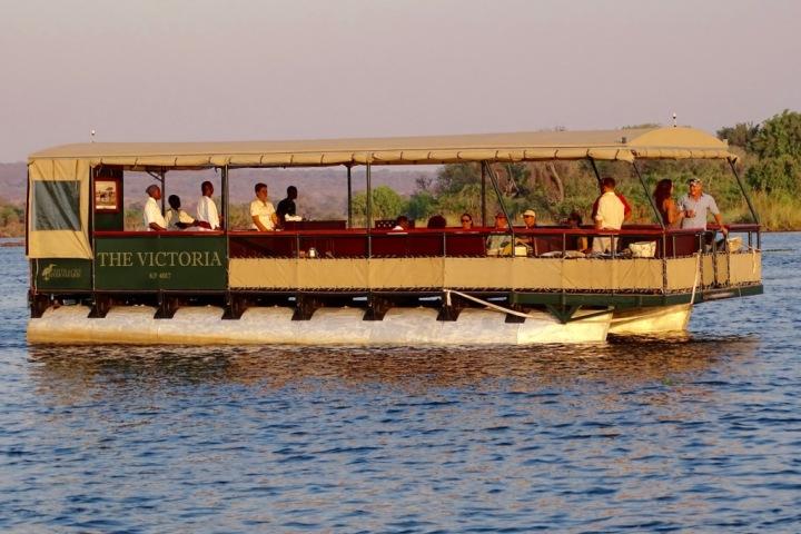 The Victoria, luxury jetboat on the Zambezi River, Victoria Falls sunset cruises, Zimbabwe
