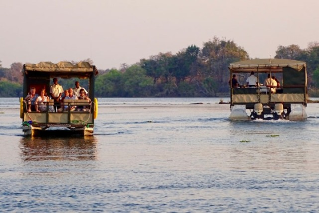Regular Victoria Falls Jetboat vs The Victoria, Zambezi River cruise, Victoria Falls, Zimbabwe