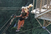 Tandem swing off the Victoria Falls Bridge