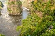Canopy tour in Victoria Falls