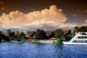 Luxury Zambezi River cruise on the Lady Livingstone