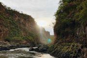 The Zambezi River gorge below the Victoria Falls, Zimbabwe