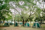 Victoria Falls Rest Camp campsite, Zimbabwe