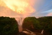 Taken from the Victoria Falls Bridge, Zimbabwe, Zambia