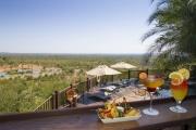 Buffalo Bar and waterhole at Victoria Falls Safari Lodge, Zimbabwe