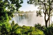 Lush Victoria Falls Rainforest, Zimbabwe