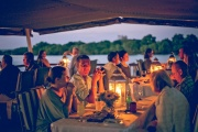 Dinner cruise on the river in Victoria Falls