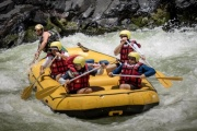 White water rafting on the mighty Zambezi River