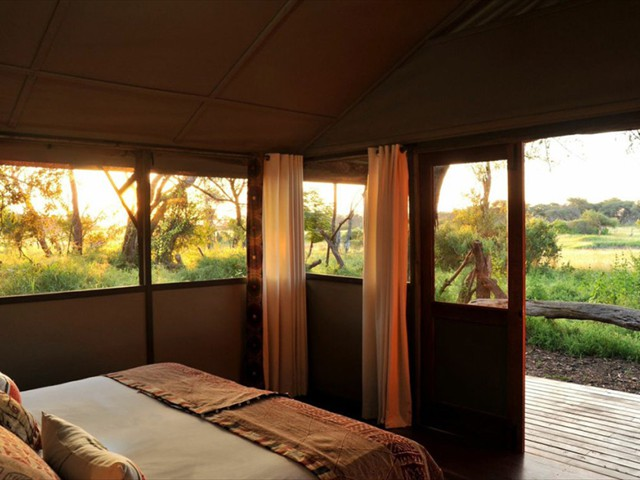The tented suite's double room