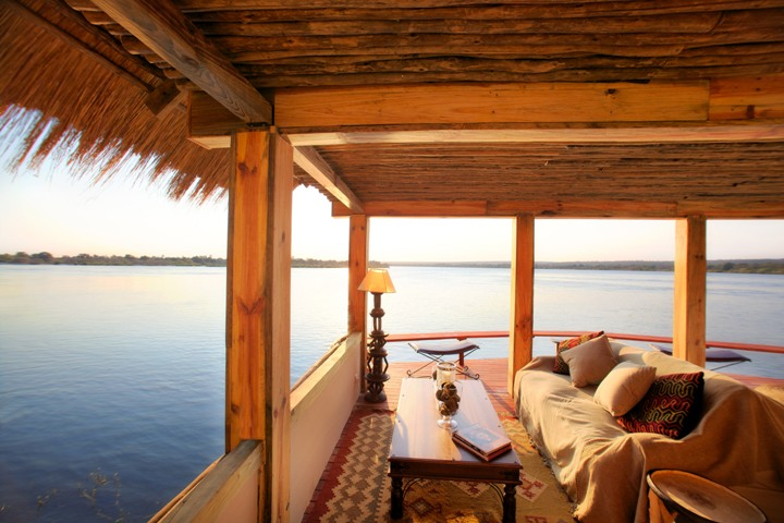 The Hangout - perfect for sundowners - Tongabezi Lodge near Victoria Falls - Zambia
