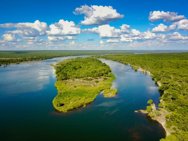 Tsowa Island on the upper Zambezi River
