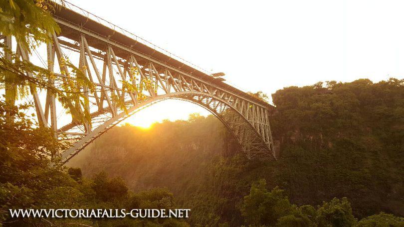 Dawn under the Victoria Falls Bridge in the Zambezi gorges