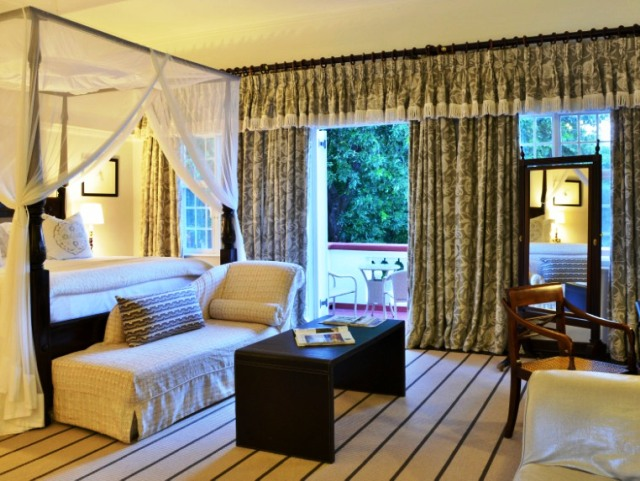 The honeymoon suite at the legendary Victoria Falls Hotel in Zimbabwe