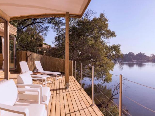Island Lodge by the Zambezi River near Victoria Falls, Zimbabwe