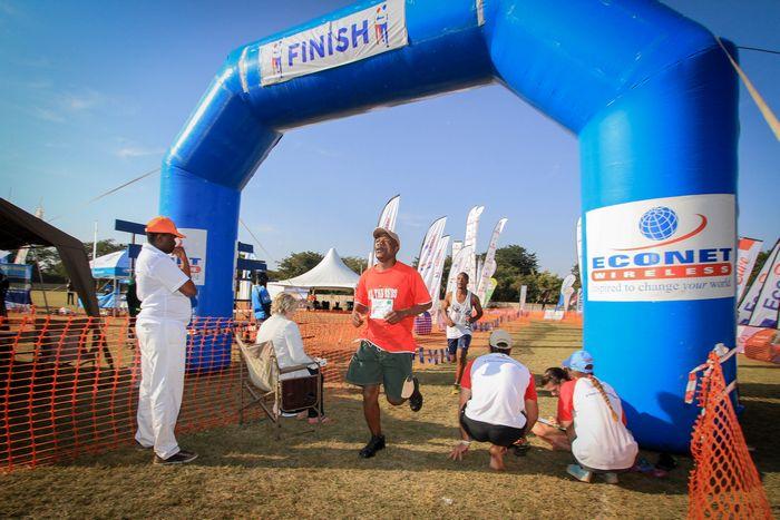 Victoria Falls Marathon Finish