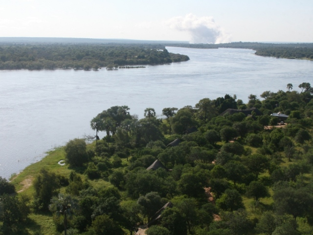 Aerial view of Victoria Falls River Lodge - Victoria Falls accommodation