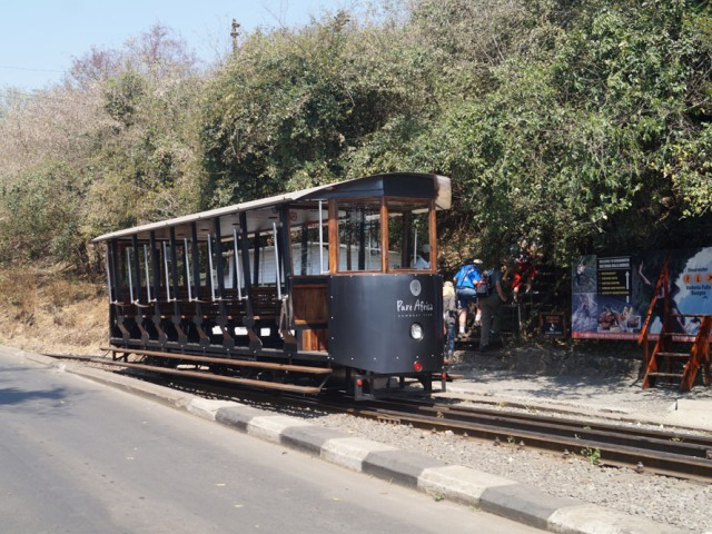 The Victoria Falls Tram takes guests to the Victoria Falls Bridge, plus a historical bridge museum presentation