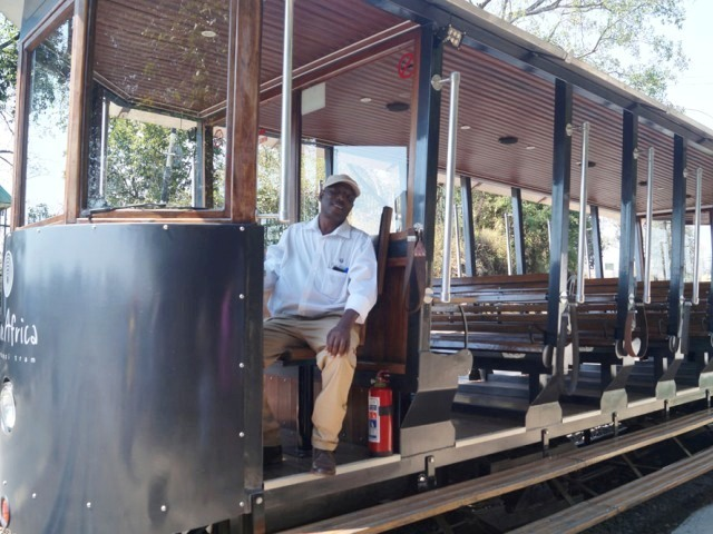 The driver at the station before the Zambezi Tram trip - Victoria Falls, Zimbabwe