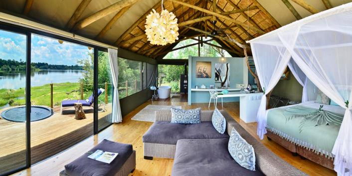 Spacious rooms and private plunge pool