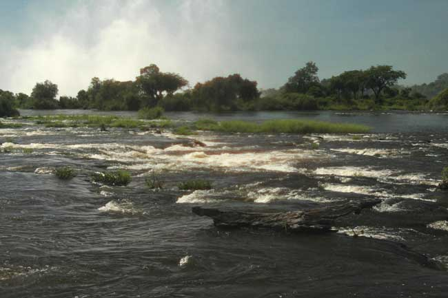 The Zambezi River above the Victoria Falls