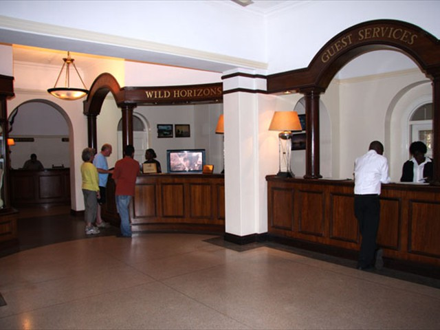 Hotel reception and services