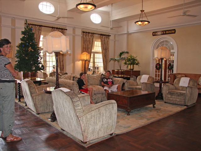 The lounge in the hotel