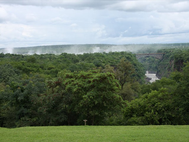 Magnificent view and spray of the Falls
