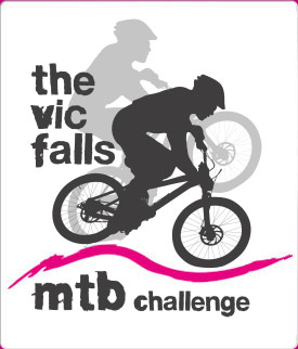 The logo for the Victoria Falls Mountain Bike Challenge annual event