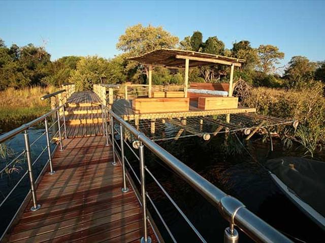 Take a break on the pontoon by the Zambezi River