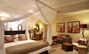 Luxurious rooms at Victoria Falls Safari Club