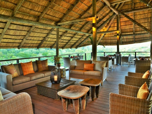 Safari Club dining area and lounge