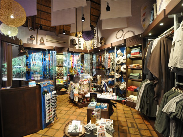 Gift shop in main guest area