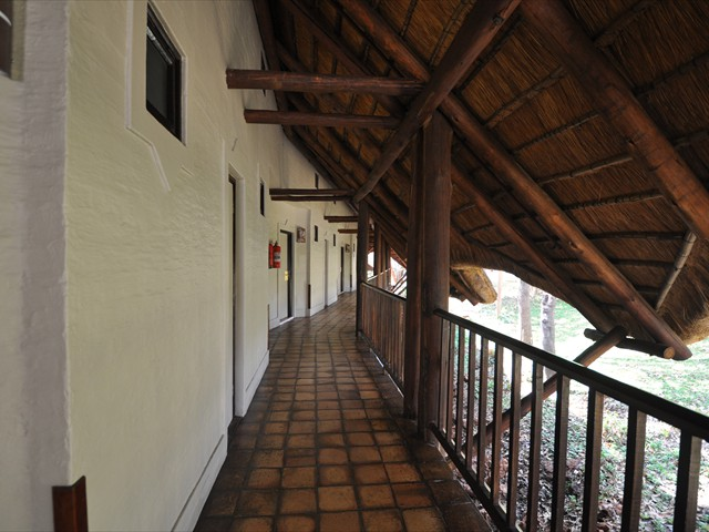 Corridor of Safari Lodge building