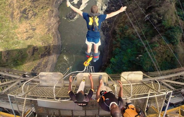 Bungee Jumping.Bungee Jumping Off The Victoria Falls Bridge