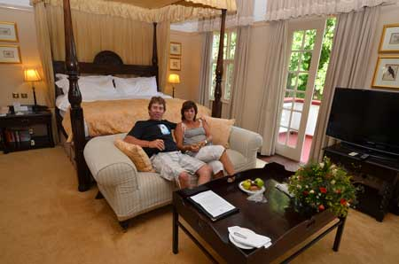 Victoria Falls Hotel Honeymoon suite