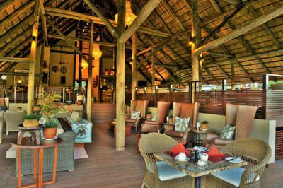 Restaurant and lounge under thatch