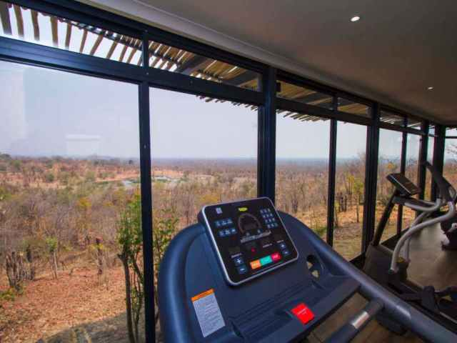 The fitness room with a view