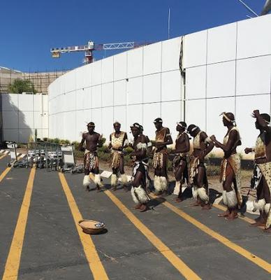 Dancers at Victoria Falls Airport