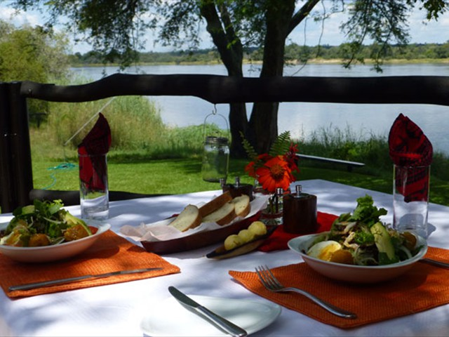 Enjoy lunch on the terrace...