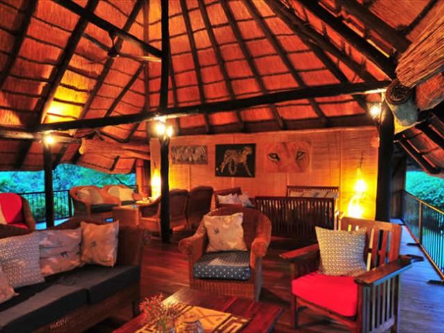 The main lodge's upstairs lounge
