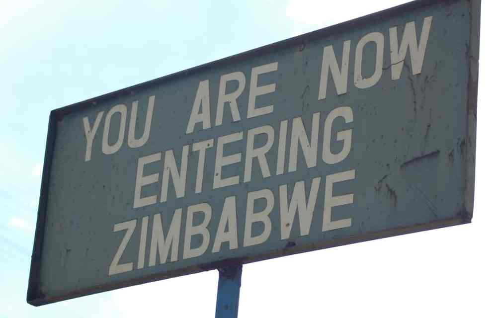 Zimbabwe welcome sign