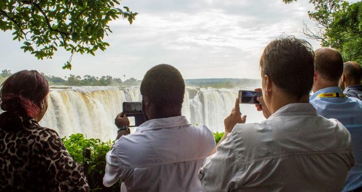 Take a guided tour of the Victoria Falls