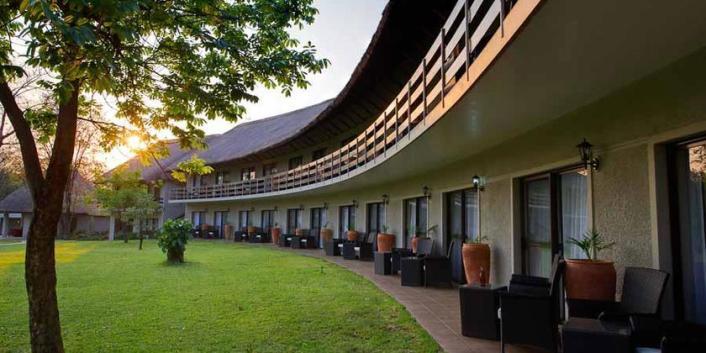 A bedroom wing at A Zambezi Lodge