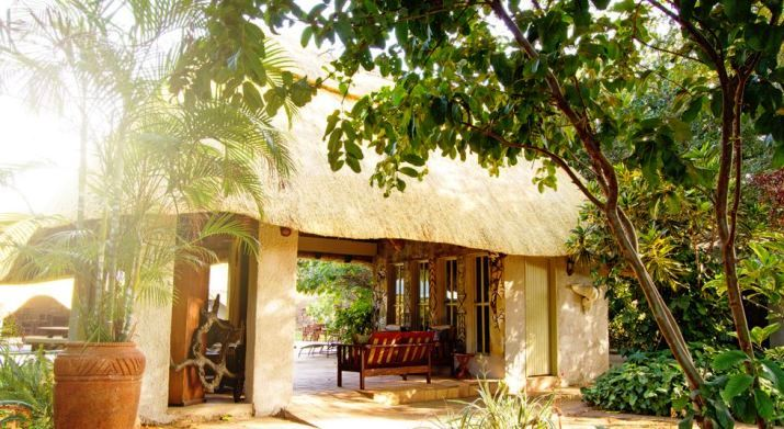 The library at Bayete Lodge