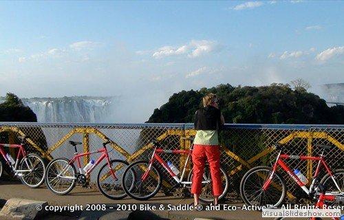 Bike tour on the Victoria Falls Bridge