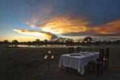 Bush dinner at Bomani Tented Lodge - Hwange