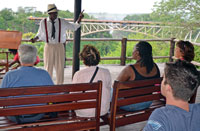 Guests learning in a Historical Bridge Tour
