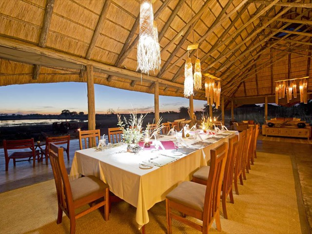 Dining table at Camp Hwange reastaurant
